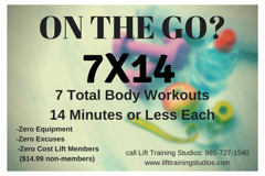 On the Go? Sign up for our $14.99 membership. Call today